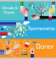 Flat style charity sponsorship and donor banners vector image vector image