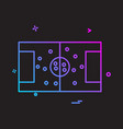 football ground icon design vector image vector image