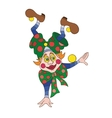 Funny clown character vector image
