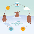 Groundhog Day Infographic with cute groundhogs vector image vector image