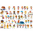 group simple characters vector image vector image