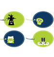 Halloween funny tags set isolated on white vector image vector image