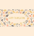 happy thanksgiving leaves gold foil text vector image