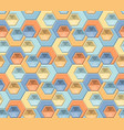 hexagons and triangles seamless pattern vector image vector image