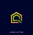 home letter template vector image
