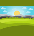 landscape with field and mountains vector image