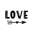 love hand drawn lettering isolated on white vector image vector image