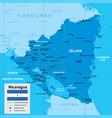 map nicaragua vector image