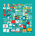medical and healthcare objects set vector image vector image