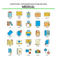 medical flat line icon set - business concept vector image vector image