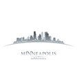 Minneapolis Minnesota city skyline silhouette vector image vector image
