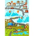 Mountains Road Map Poster vector image vector image