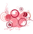 pink banner consisting of circles vector image vector image