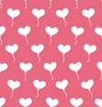 pink seamless pattern with hearts balloons vector image vector image
