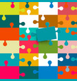 puzzle background colorful seamless backdrop vector image