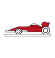 race car flat vector image vector image