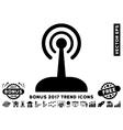 Radio Control Joystick Flat Icon With 2017 Bonus vector image