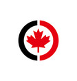 redblack canada maple leaf vector image