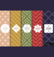 set colorful seamless textile patterns vector image vector image