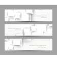 Set of banners with white squares vector image vector image