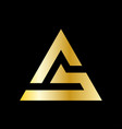 simple triangle logo in a modern style vector image vector image