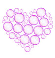 soap bubbles heart vector image vector image