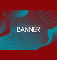 stylish banner for modern poster decoration vector image