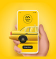 taxi mobile application or ordering online vector image vector image