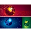 Three globes vector image vector image