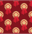 trophy champion seamless pattern background vector image