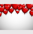 valentine s love background with hearts vector image