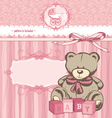 welcome bagirl announcement card vector image vector image