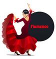 flamenco dancer in cartoon style vector image