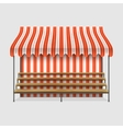 Market Stall With Wooden Shelves vector image