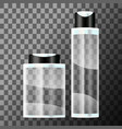 set of cosmetic bottle vector image