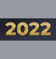 2022 golden numbers with glittering dust isolated vector image vector image