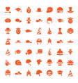 49 hat icons vector image vector image