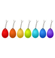7 easter hangtags eggs colorful on white stock vector image vector image