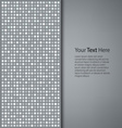 Abstract gray square background vector image vector image