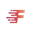 abstract letter f fast logo design template