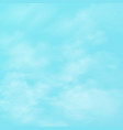 abstract of realistic group of clouds on blue sky vector image