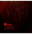 Abstract red lights vector image vector image