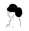 Bride with elegant hairstyle vector image