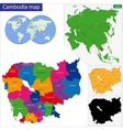 Cambodia map vector image vector image