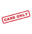 Card Only Text Rubber Stamp vector image vector image