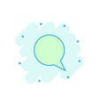 cartoon blank empty speech bubble icon in comic vector image vector image