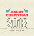 christmas card with pattern and reindeer vector image vector image