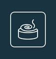cinnamon roll icon line symbol premium quality vector image vector image