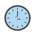 clock time icon flat style vector image vector image