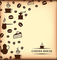 coffee background blur vector image vector image